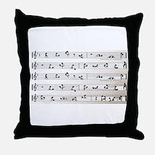 Kama Sutra Music Notes Throw Pillow