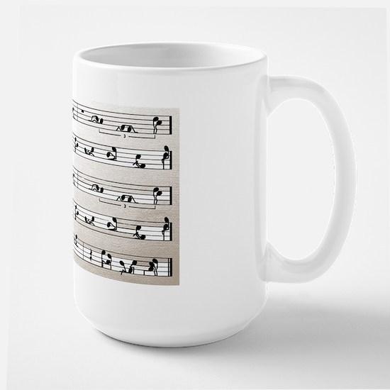 Kama Sutra Music Notes Large Mug