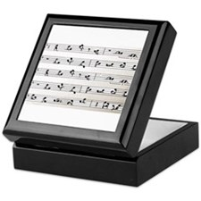 Kama Sutra Music Notes Keepsake Box
