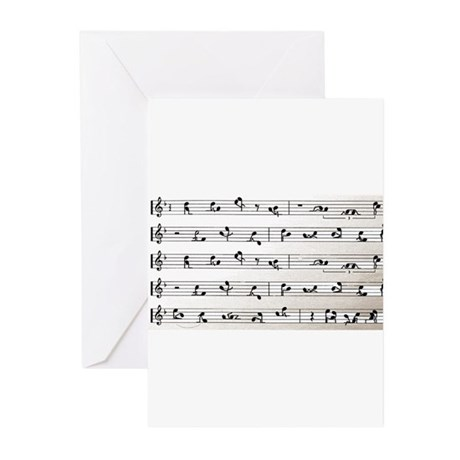 Kama Sutra Music Notes Greeting Cards (Pk of 10)