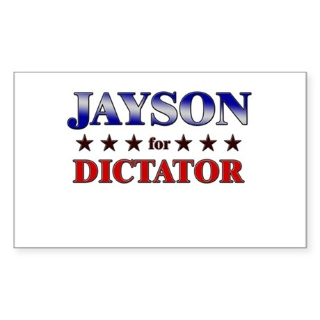 JAYSON for dictator Rectangle Sticker