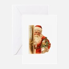 Victorian Santa Greeting Cards (Pk of 10)