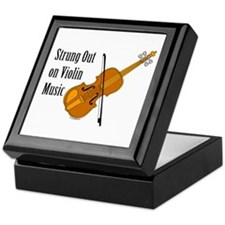 Violin Music Keepsake Box