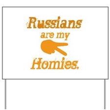 Funny Russian Yard Sign