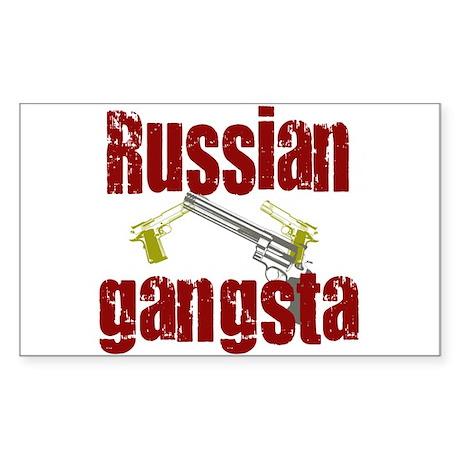 Russian Gangsta Rectangle Sticker