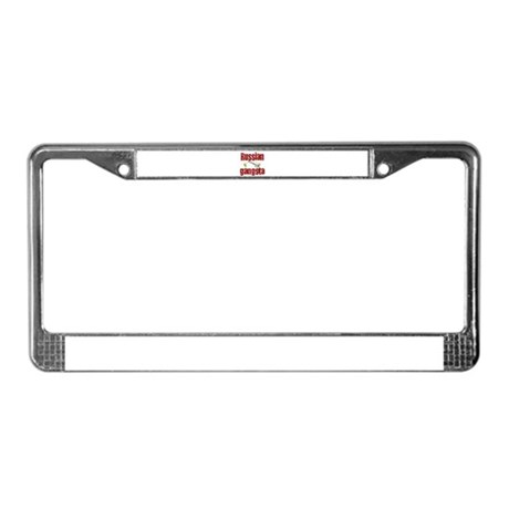 Russian Gangsta License Plate Frame