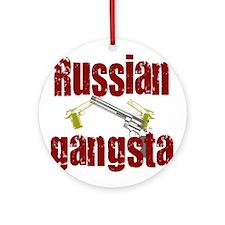 Russian Gangsta Ornament (Round)