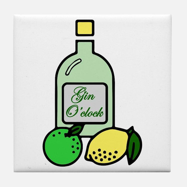 Gin O'clock Tile Coaster