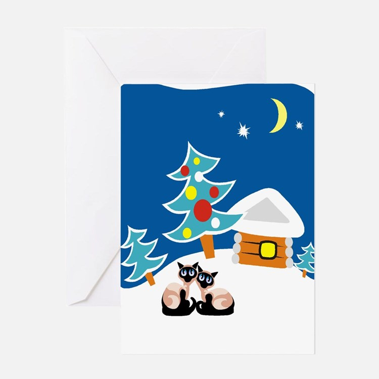 Christmas Siamese Greeting Card