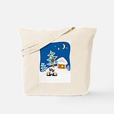 Christmas Siamese Tote Bag