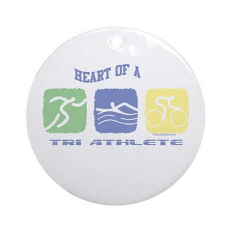 HEART OF A TRI ATHLETE Ornament (Round)
