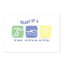 HEART OF A TRI ATHLETE Postcards (Package of 8)