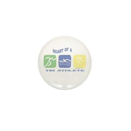 HEART OF A TRI ATHLETE Mini Button (10 pack)