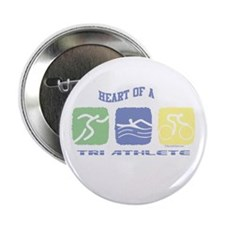 "HEART OF A TRI ATHLETE 2.25"" Button"