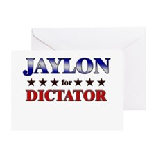 JAYLON for dictator Greeting Card