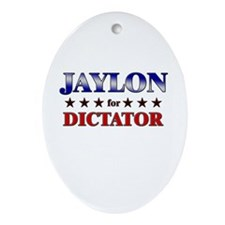 JAYLON for dictator Oval Ornament