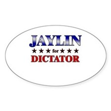 JAYLIN for dictator Oval Decal