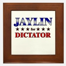 JAYLIN for dictator Framed Tile