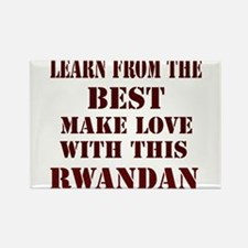 Learn best from this Rwandan Rectangle Magnet
