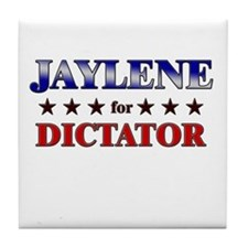 JAYLENE for dictator Tile Coaster
