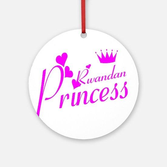 Rwandan princess Ornament (Round)