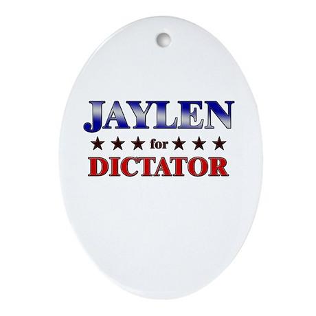 JAYLEN for dictator Oval Ornament