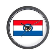 Missouri Blank Flag Wall Clock