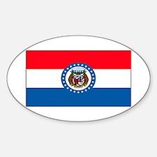 Missouri Blank Flag Oval Decal