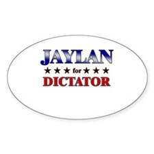 JAYLAN for dictator Oval Decal