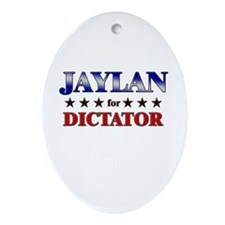 JAYLAN for dictator Oval Ornament