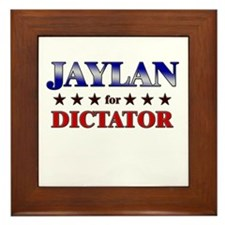 JAYLAN for dictator Framed Tile