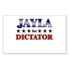 JAYLA for dictator Rectangle Decal