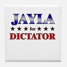 JAYLA for dictator Tile Coaster