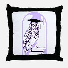 Smart Owl 6 Throw Pillow