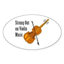 Violin Music Oval Decal
