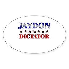 JAYDON for dictator Oval Decal