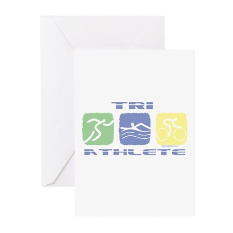 TRI ATHLETE Greeting Cards (Pk of 10)