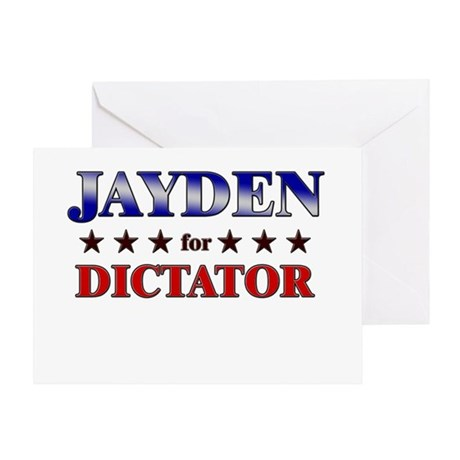 JAYDEN for dictator Greeting Card