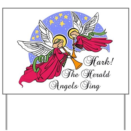 Hark The Herald Angels Sing Yard Sign