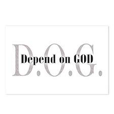 D.O.G. Depend On God Postcards (Package of 8)