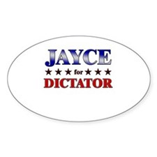 JAYCE for dictator Oval Decal