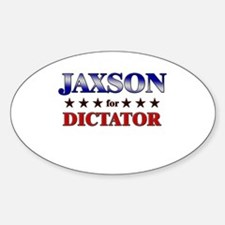 JAXSON for dictator Oval Decal