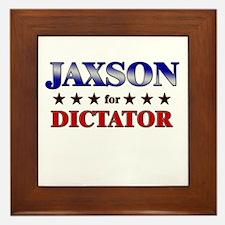 JAXSON for dictator Framed Tile
