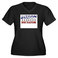 JAXSON for dictator Women's Plus Size V-Neck Dark