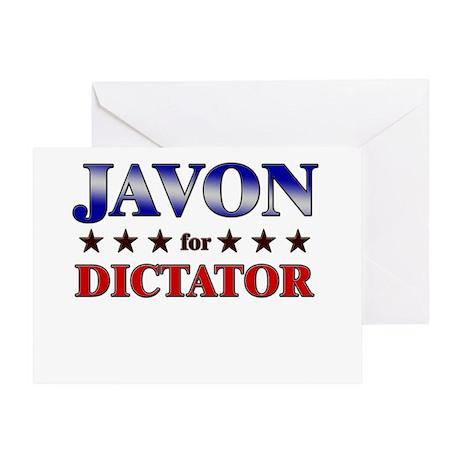 JAVON for dictator Greeting Card
