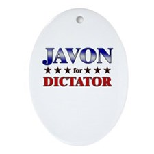 JAVON for dictator Oval Ornament