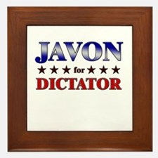 JAVON for dictator Framed Tile