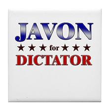 JAVON for dictator Tile Coaster