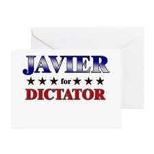 JAVIER for dictator Greeting Card