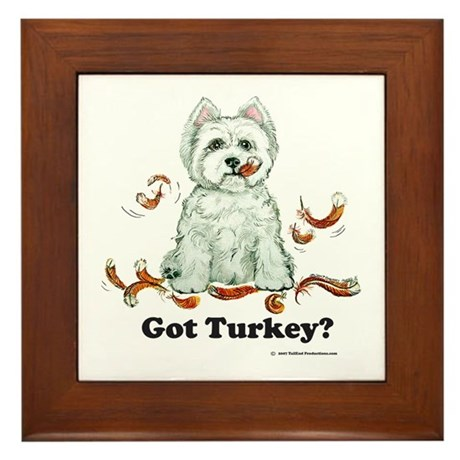 Westhighland Turkey Terrier Framed Tile